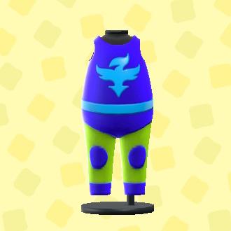 あつ森のプロレススーツのブルー