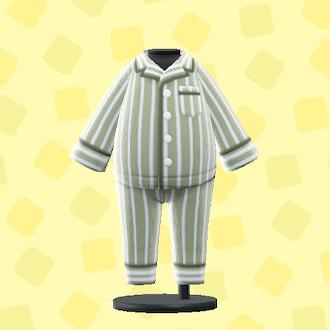 あつ森のパジャマのグレー