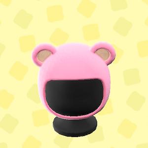 あつ森のクマのかぶりもののピンク