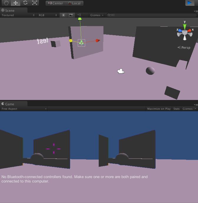 作成したUnityプロジェクトでcube Objectを飛ばす例