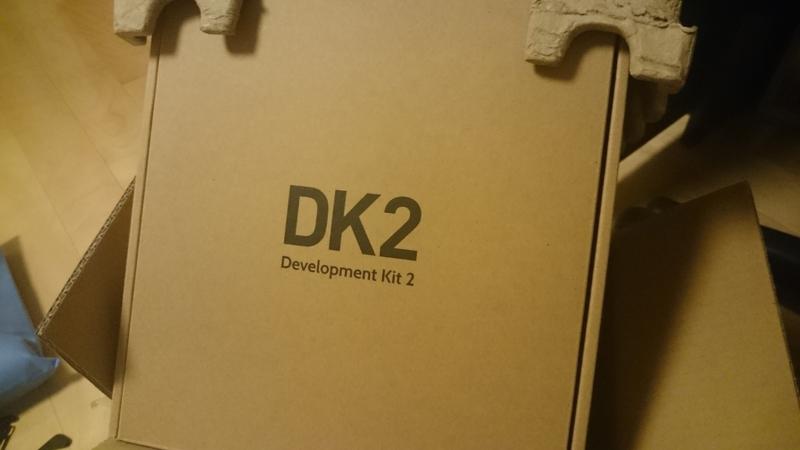 新しいOculus Rift DK2が届いたときの写真