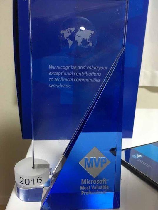 Microsoft MVP受賞者に送られるたて