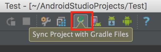 Android Studioのgradleの場所