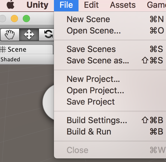 UnityでNew Project作成時の画面