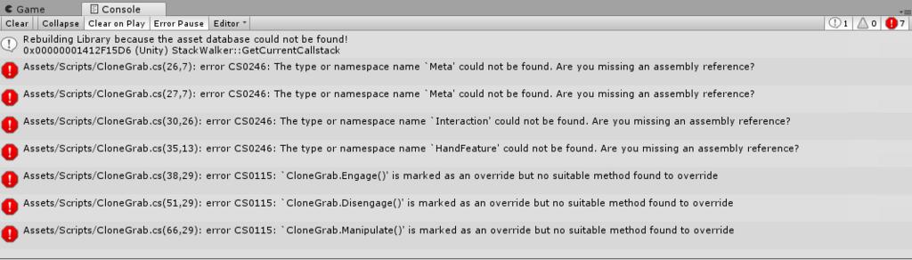 Meta2サンプルプロジェクトで発生するエラー