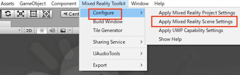 UnityでMixed Reality Tool Kitを使うときの手順