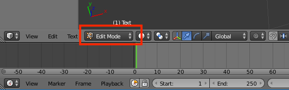 BlenderでEdit Modeに変更した例