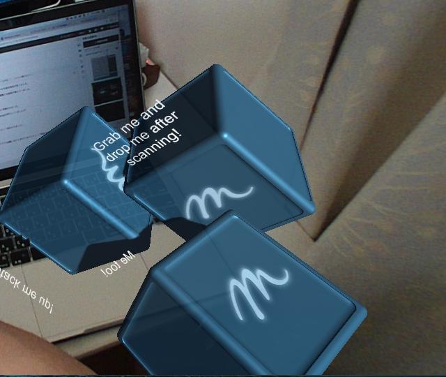 Meta2 Unity SDK 2.7のReconstruction Sceneの例