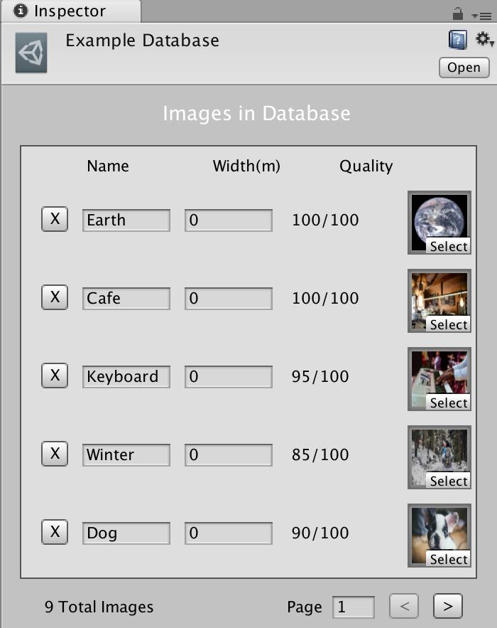 ARcore Augmented Imagesのサンプルデータベース