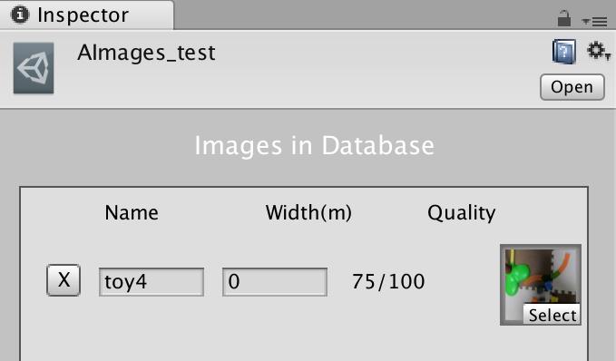 Augmented Imagesに登録した画像。スコアは75