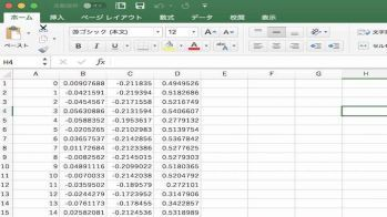 PointCloudのデータ取得結果の例 低解像度