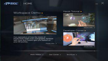 Meta2 SDK 2.6のMeta Home画面 低解像度