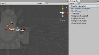UnityでMixed Reality Tool Kitを使うときの設定後の画面 低解像度