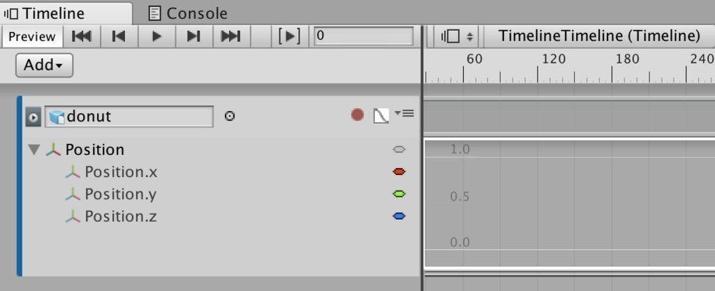 UnityタイムラインのAnimation TrackのPosition