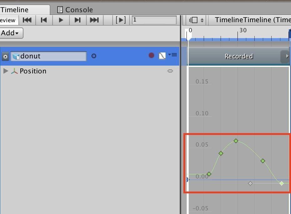UnityタイムラインでAnimation Clipに変更した後の調整