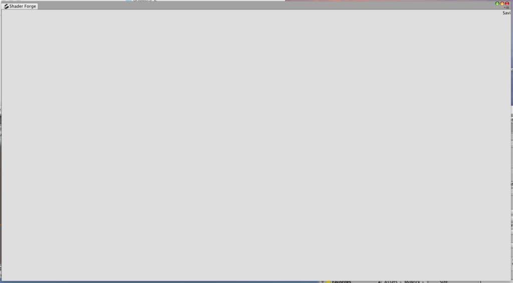Shader Forgeの画面が灰色担って何も表示されていない例