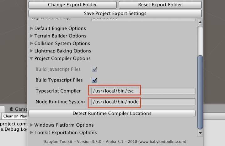 Babylon.js Editor Toolkitの設定パス
