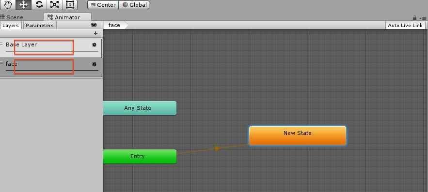 Animator Controllerの設定項目
