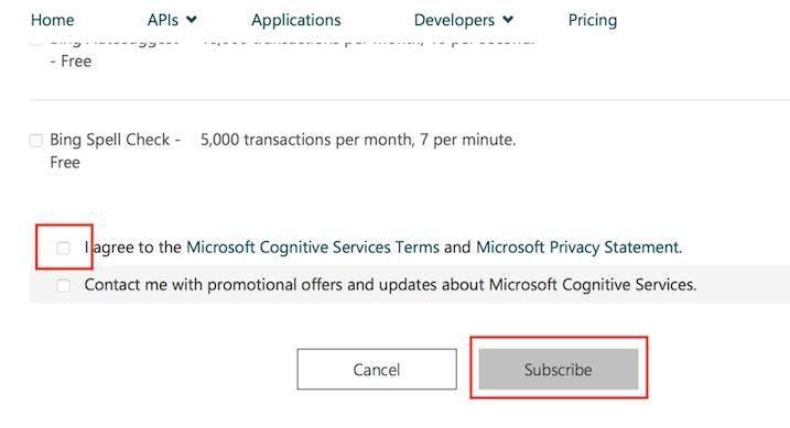 Microsoft APIを使う同意選択画面