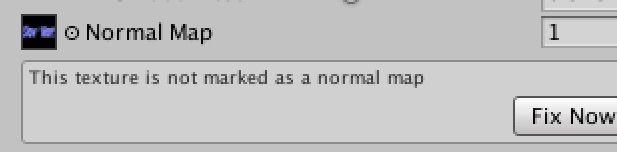 Normal Map適用時の警告画面