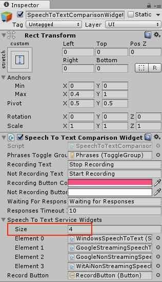 Speech To Text の未使用サービスを無効化する画面