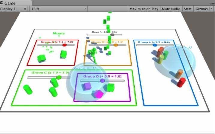 UnityアセットChronosのサンプルシーン画面