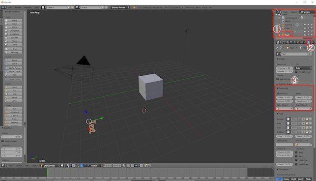 BlenderでTextを3D化する手順