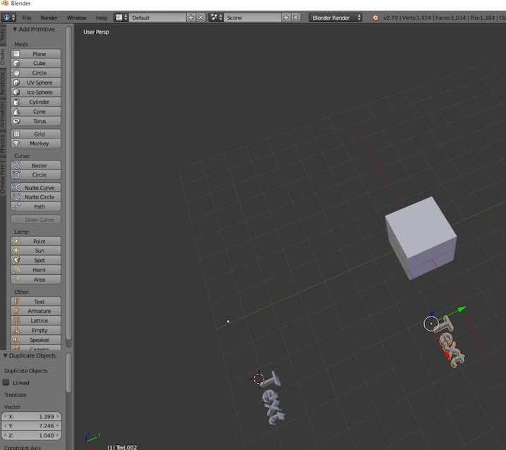 Blenderでオブジェクトを複製する方法