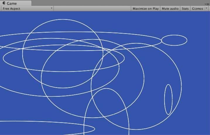 Vectrosityで楕円を描いた例
