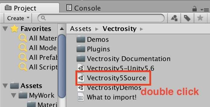 Vectrosityのunitypackage