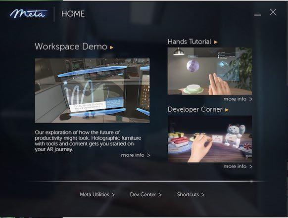 Meta Home(SDK ver2.7)の画面。SushiCatのアイコンあり