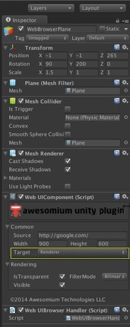 Unityの設定画面