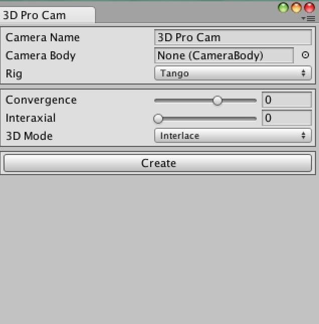 Cinema Pro Camで3D表示させる時の設定例