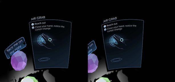 Meta2のAir Grabの例