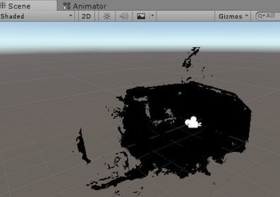 Unity Editorでモデルを表示した例