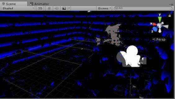 BlueLinesOnWallsを有効にして壁を検出した例