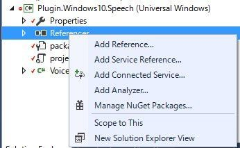Visual StudioでAdd Referenceを選択する画面
