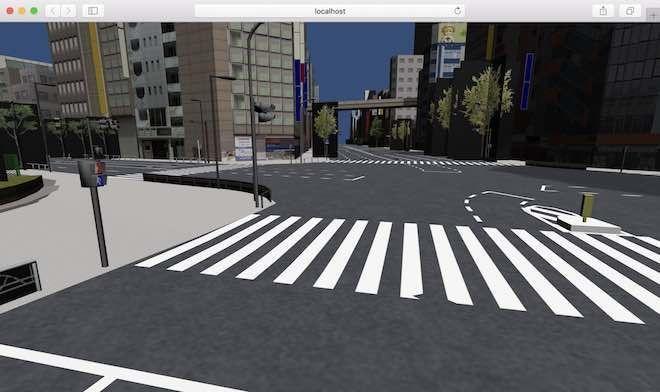 Japan Otaku CityアセットをBabylon.js形式で表示させた例