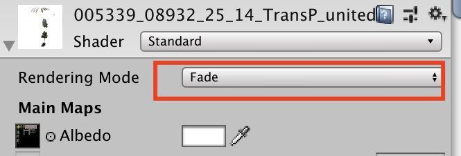 Unity Standard Materialの設定情報