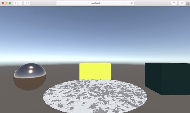 UnityのマテリアルをBJS形式で表示させた例