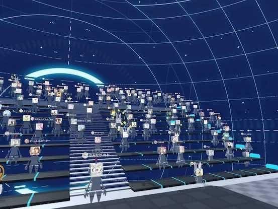 ClusterによるJapan VR Fest in Cluster会場の様子