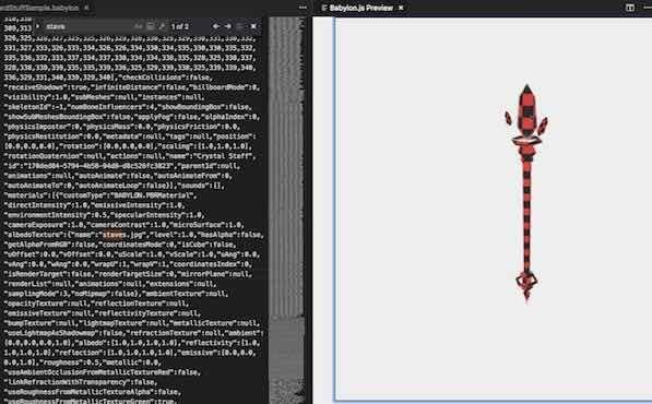 babylon-js-viewerで3Dモデルを出力した例
