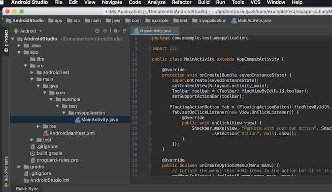 Android Studio 3.2.1でDarculaを選択した時の画面
