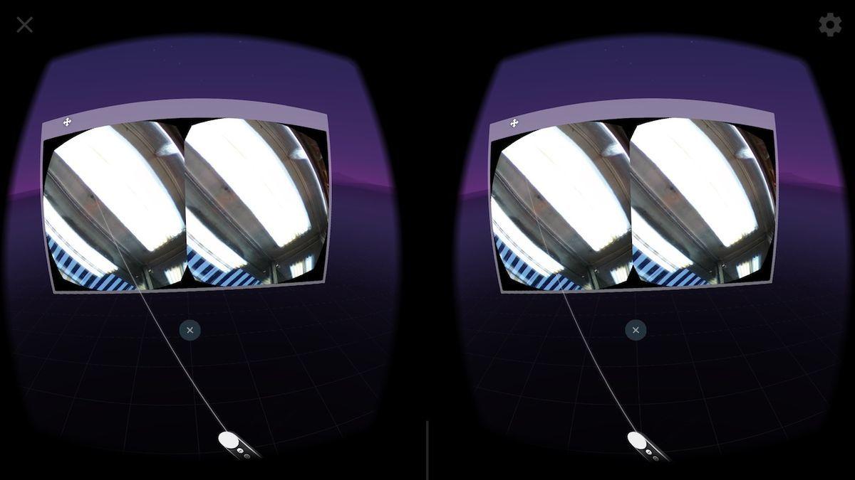 DayDreamでWebVRがフルスクリーン表示されない例