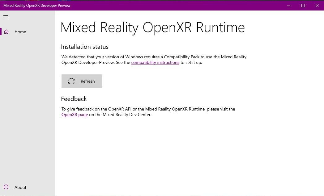 Failed setting result of Mixed Reality OpenXR Developer Preview app