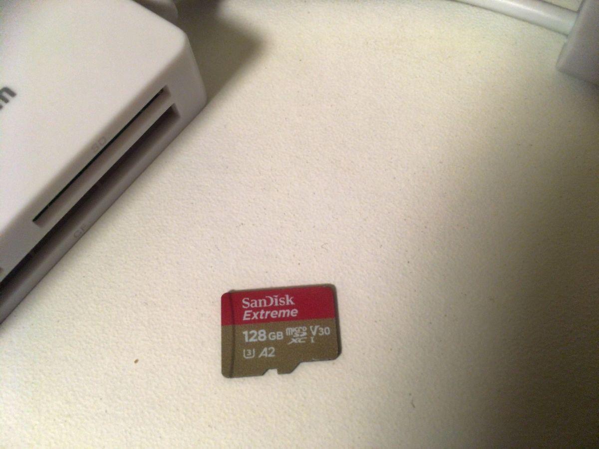 a microSD card as SDSQXA1-128G-GN6MA