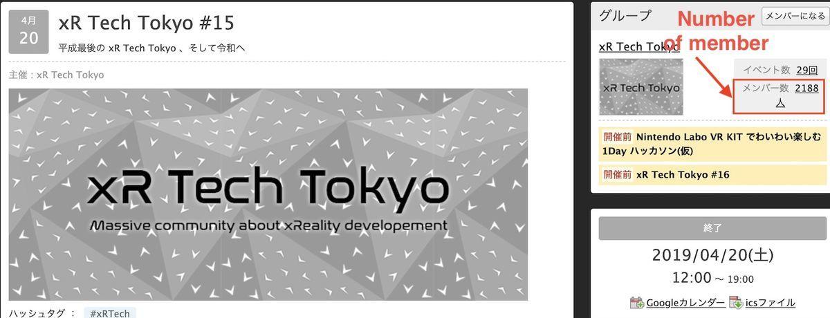 Number of member in xR Tech Tokyo