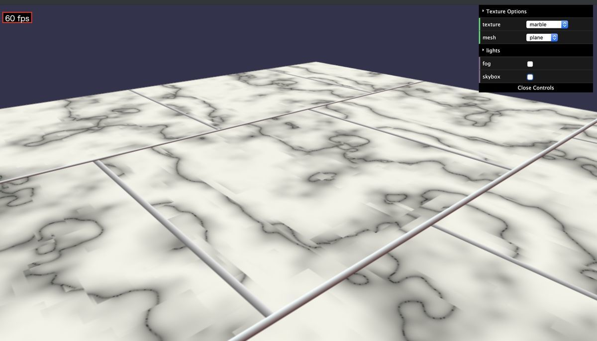 marble brick of texture in babylon.js