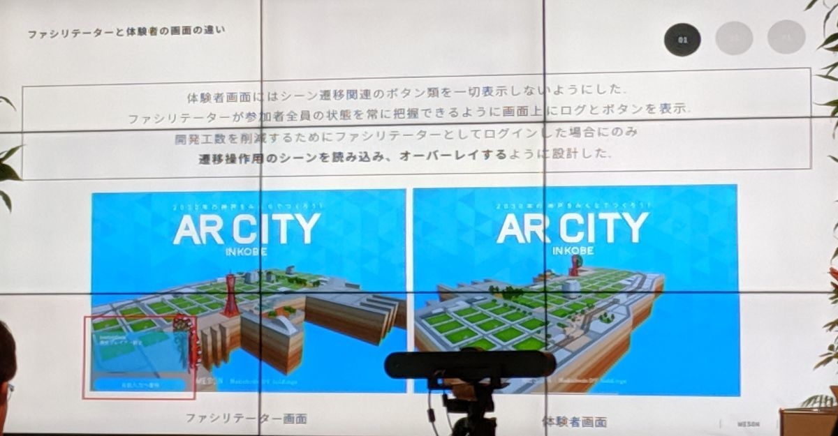 Control AR city process by organizers