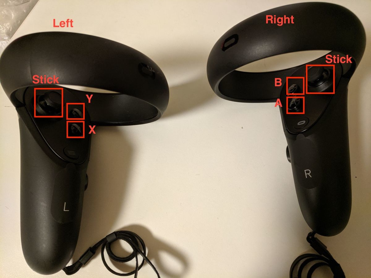 ABXY button of oculus quest controller